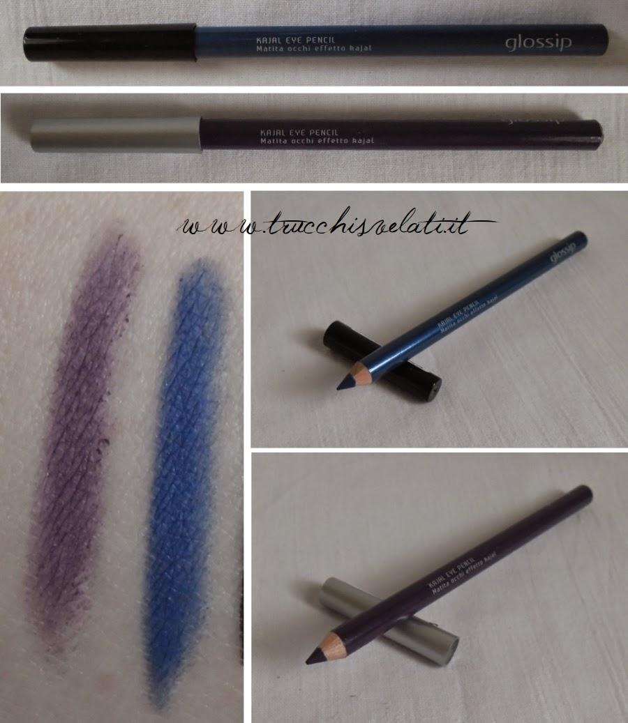 glossip make up matita effetto kajal magic blue 05 purple alchemy 07 swatch