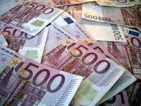 Imagem de notas de 500 euros