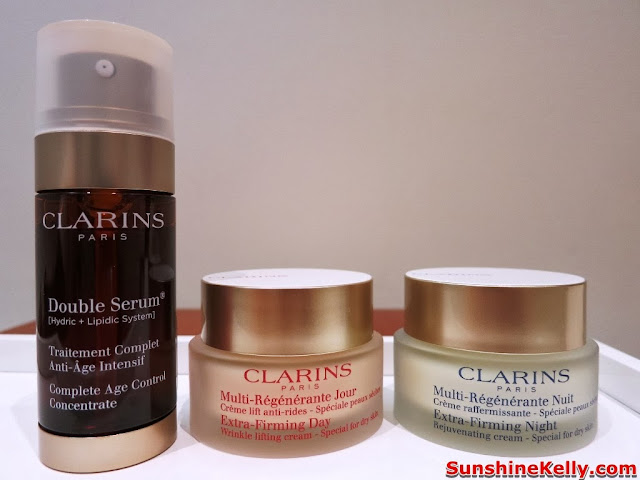 Clarins Double Serum Review, Clarins, anti aging serum, product review, Clarins Extra-Firming Day Cream for dry skin, Clarins Extra-Firming Night Cream, for dry skin
