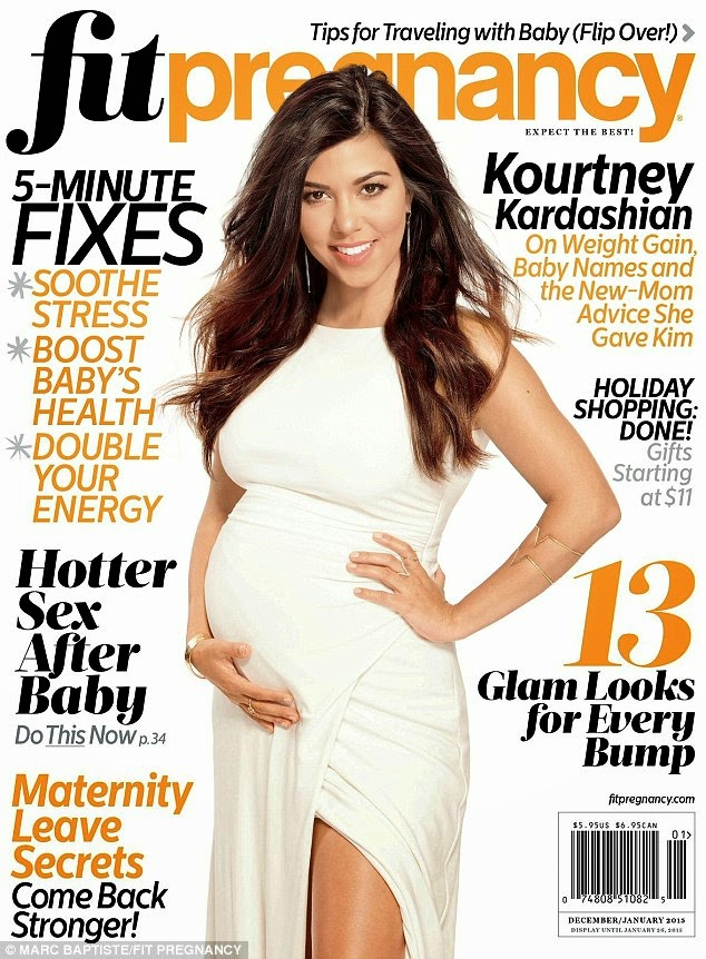 كورتني كارداشيان تستعرض حملها في صور لمجلة Fit Pregnancy