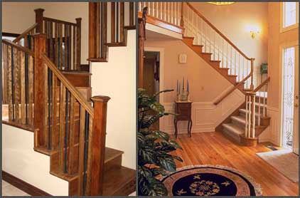 Modern Homes Stairs Designs Wooden Stairs Railing Ideas