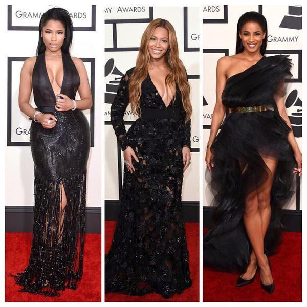 The Grammys Red Carpet 2015 — Beyonce, Nicki & Ciara