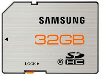 Cartão de memória Samsung Pro Series.