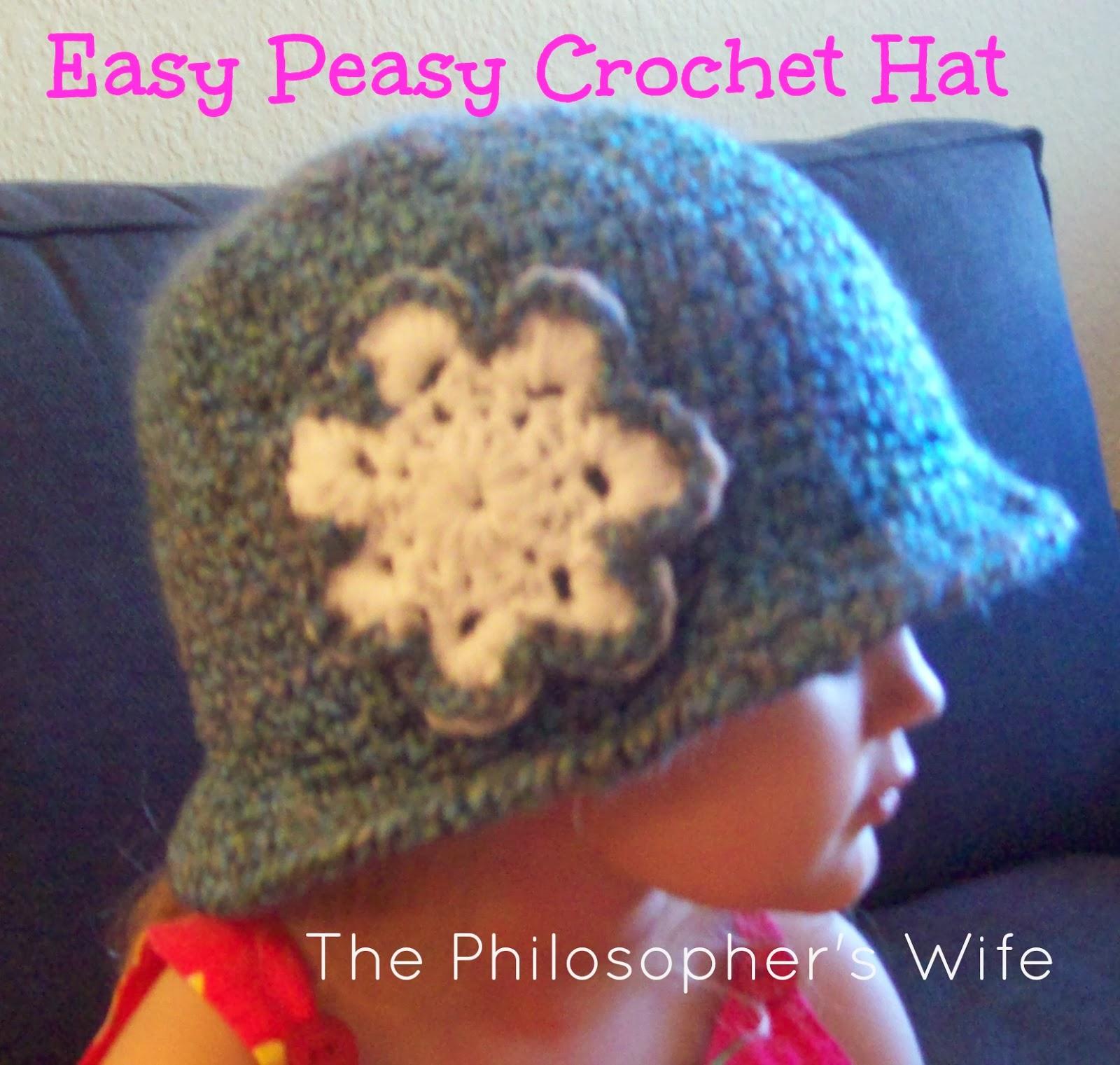 Easy Peasy Crochet Hat Patterns : The Philosophers Wife: An Easy Peasy Crochet Hat