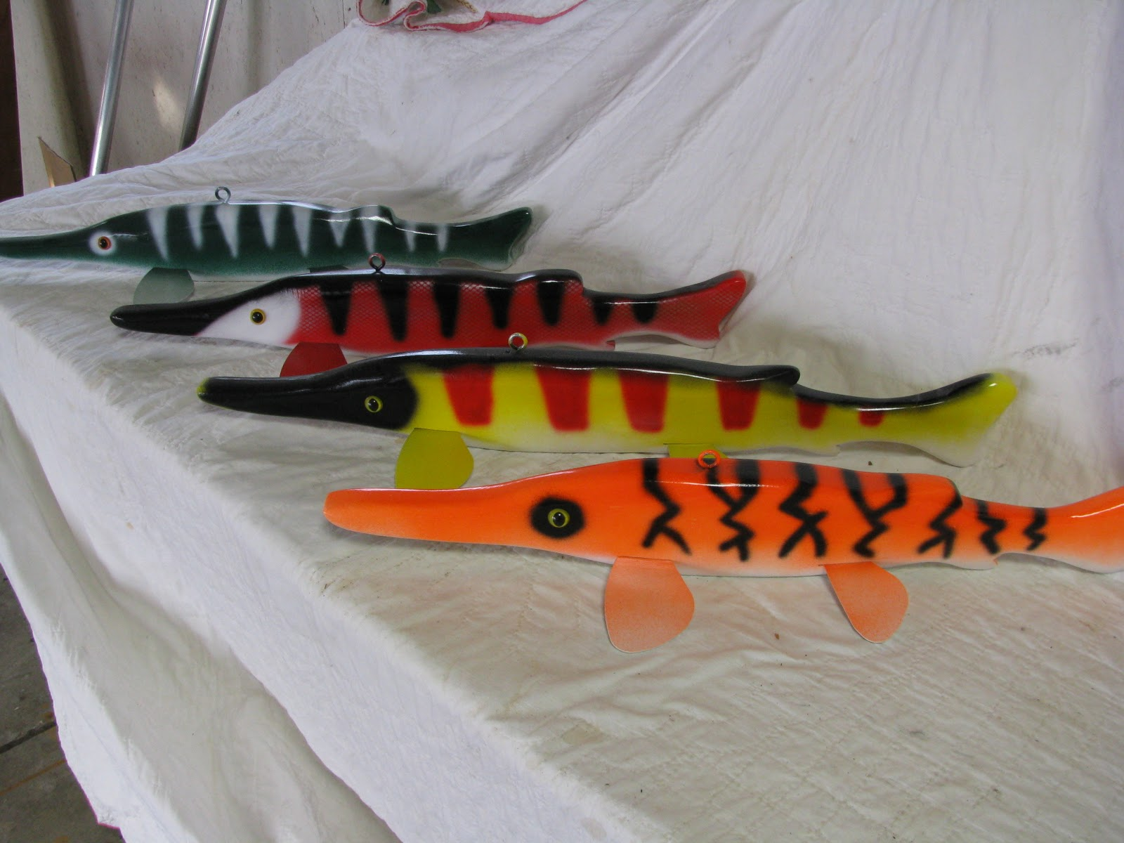 Image gallery sturgeon decoys for Ice fishing spears for sale