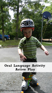 oral language, oral language activities, active play