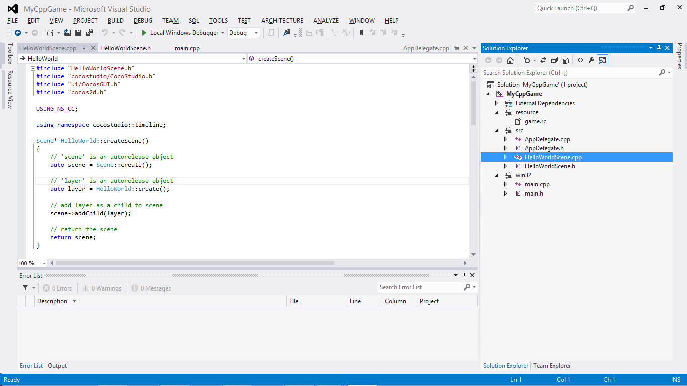 cocos2dx-visual-studio-inside