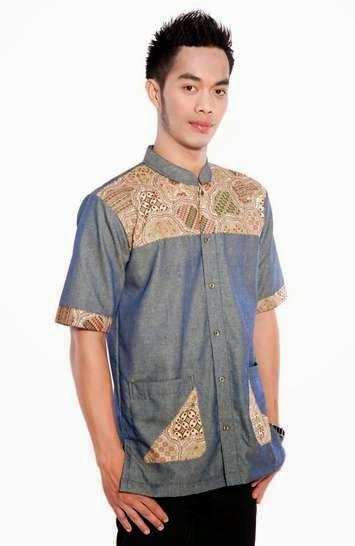Contoh desain busana batik trendy untuk pria