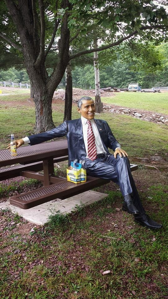 http://www.upi.com/Odd_News/2014/08/22/Stolen-Obama-statue-discovered-with-six-pack-of-Twisted-Tea-in-Pa-park/2701408741755/