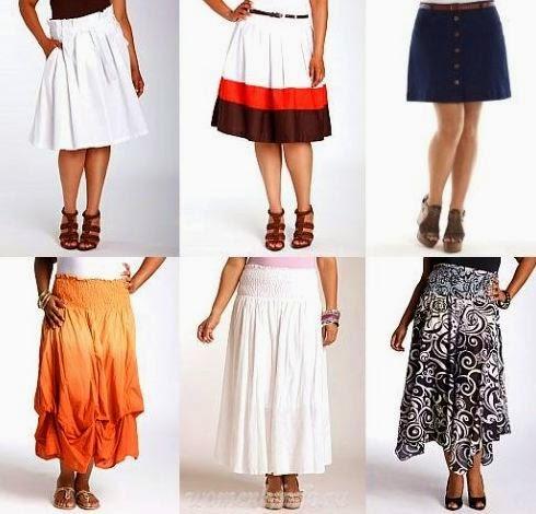 Летние юбки для полных дам