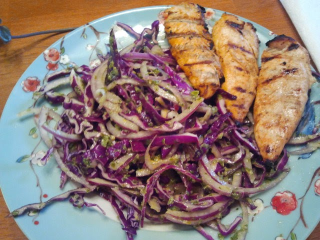 Running Paleo: Tequila lime chicken with green onion slaw