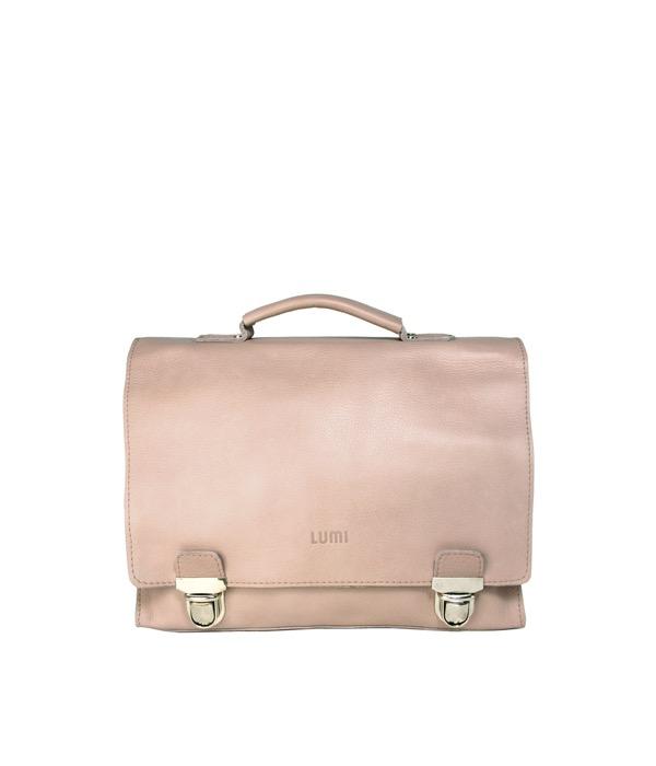 Light conjac coloured leather bag