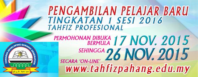 Maahad Tahfiz Pahang online