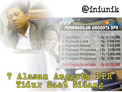 7 Alasan Anggota DPR Tidur Saat Sidang