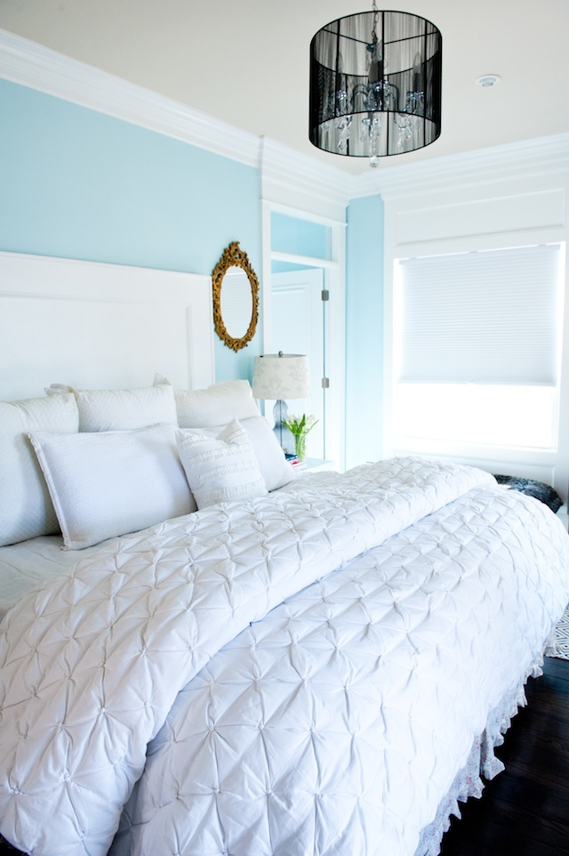 Master bedroom paint colors {painted ceiling}