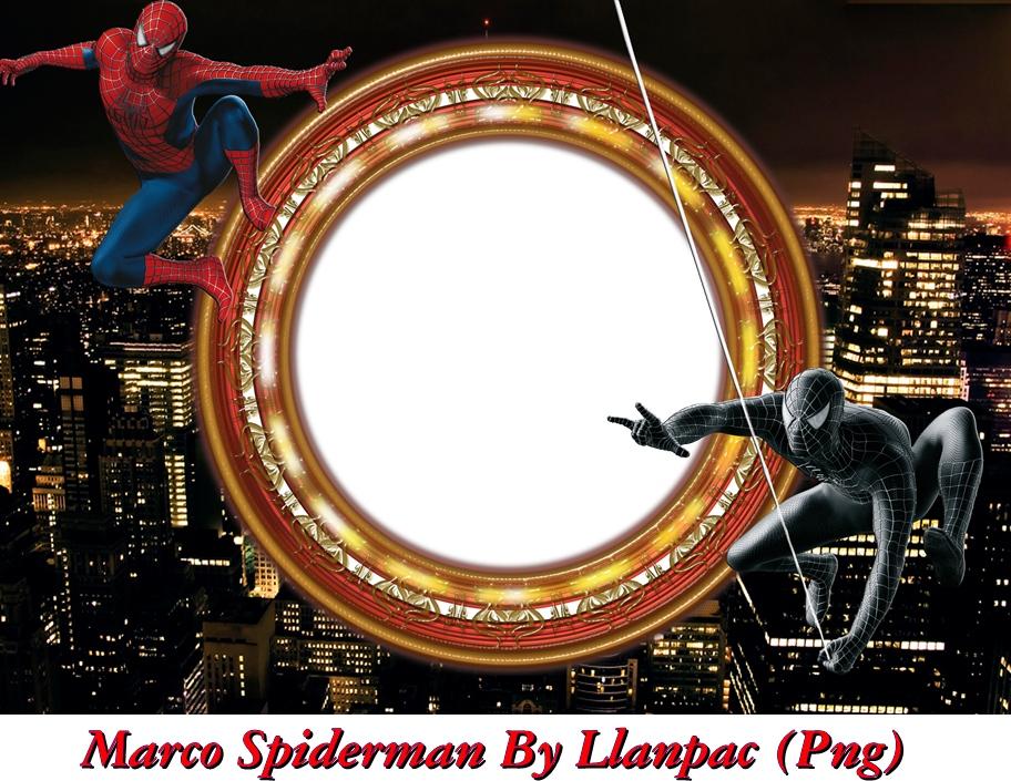 Recursos Photoshop Llanpac: Marco de Spiderman para Fotomontajes (Png)