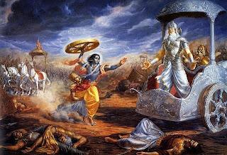 Ilustrasi Perang Mahabarata
