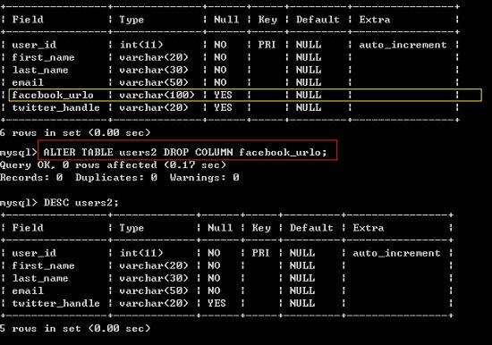 Terrapins sky sql mysql way to delete table column in for Emacs org table delete column