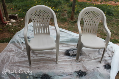 since you donu0027t need to sand or prime with the krylon fusion spray paints you can just go straight to painting these were our chairs for the last two