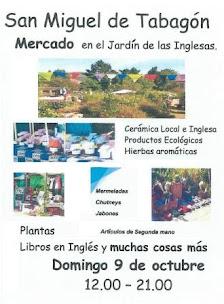 SAN MIGUEL DE TABAGÓN: DOMINGO 9 DE OUTUBRO, DE 12:00 Á 21.00 H., MERCADO NO XARDÍN DAS INGLESAS.