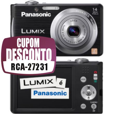 Câmera Digital Panasonic DMC-FH2LB-K 14.1 MP