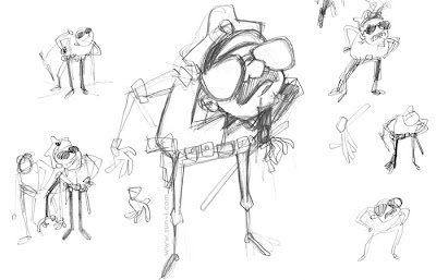 sketches for a cop character