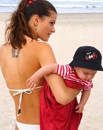 Isabeli Fontana Back Tattoo Designs