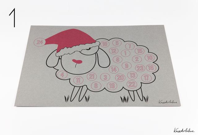 Weihnachtskalender basteln Vorlage