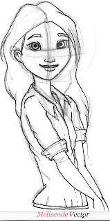 Sketch cartoon character