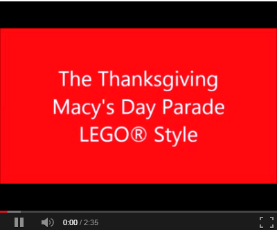 LEGO Stop Motion Video - Macy's Day Parade