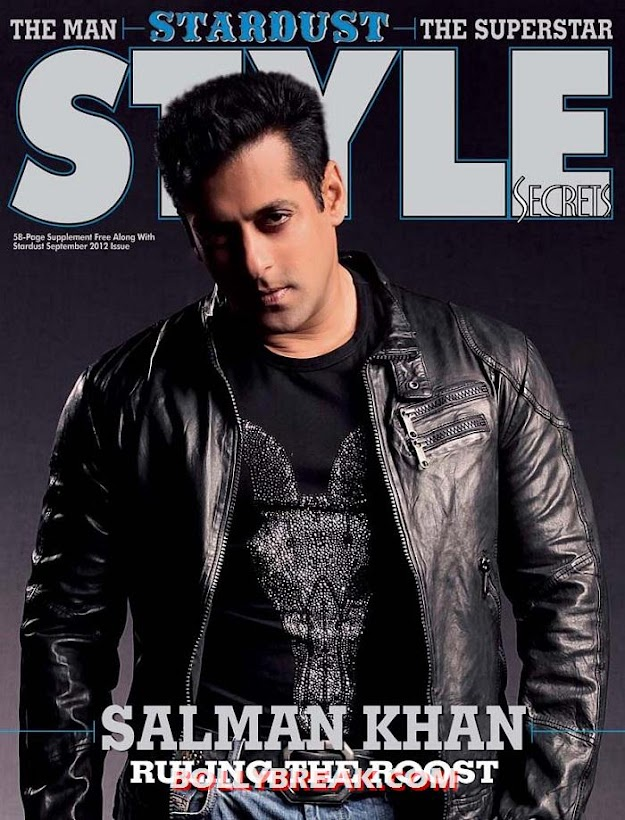 Salman Khan on stardust cover - Salman Khan on Cover of Stardust Magazine September 2012