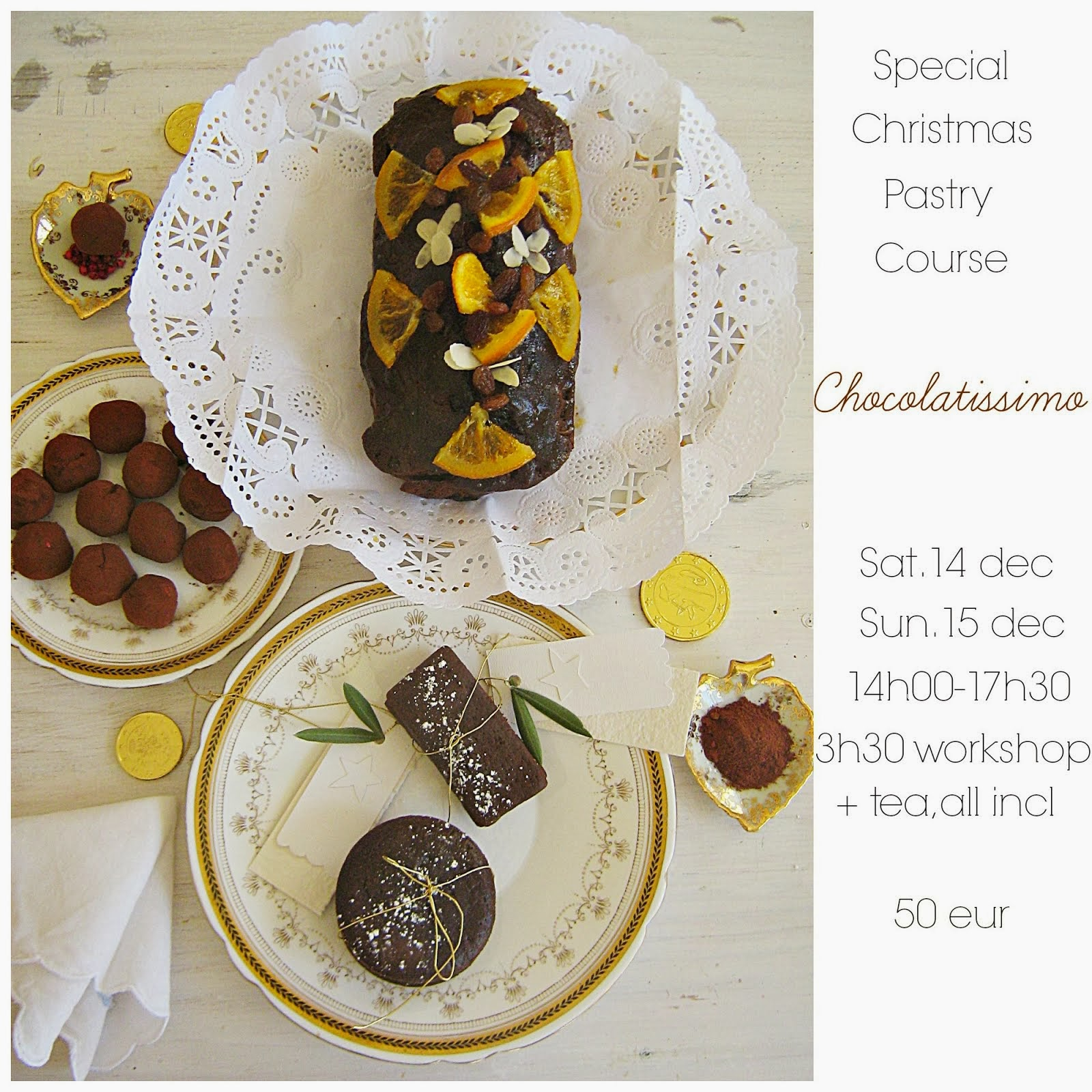 CHOCOLATISSIMO Pastry workshop  in Holland, sat dec 14 & sun dec 15