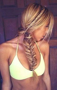 Fish back hair Style