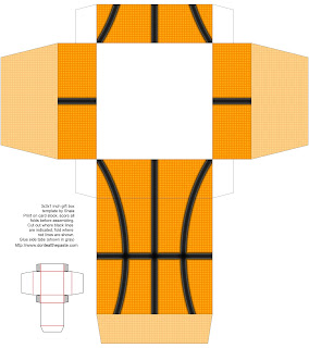 Printable Basketball themed gift box