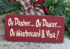 On Dasher On Dancer On Master Card and Visa