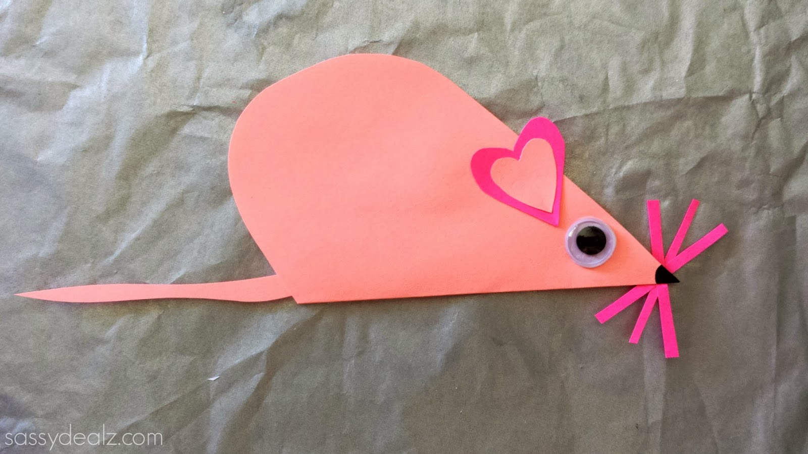 Heart Mouse Valentine Craft