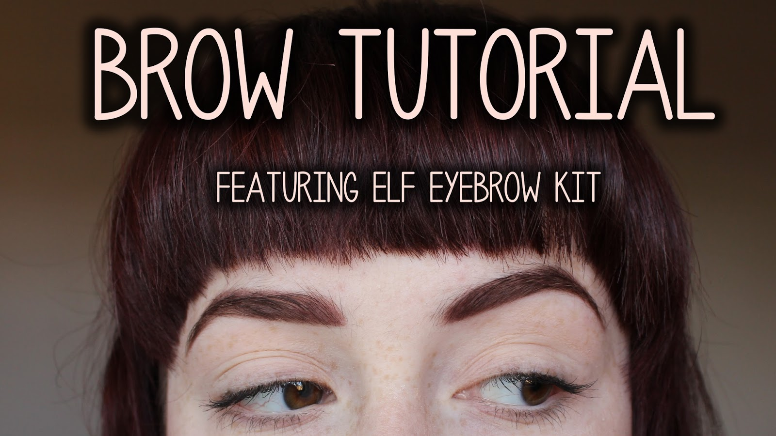 Coffeepls Its All About Brows Tutorial Using Elf Eyebrow Kit