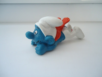 Bobsled Smurf Figure W.Germany Peyo Schleich 4.0201