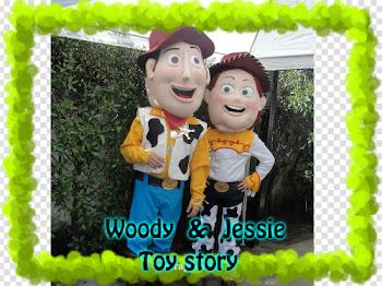 Visita de WOODY Y JESSIE TOY STORY o arriendo solo de los trajes