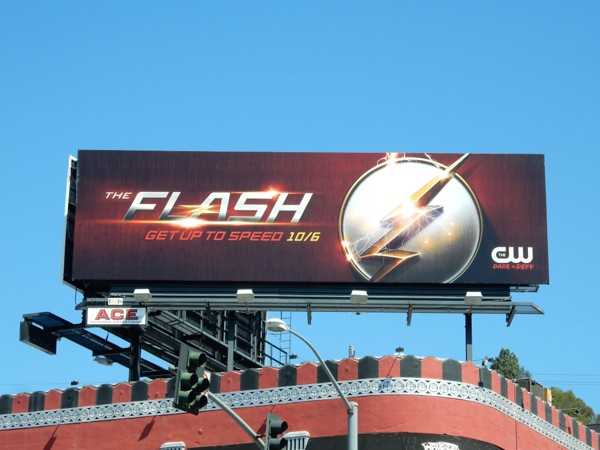 The Flash season 2 teaser billboard