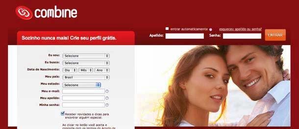 combine gratuito gratis site online paquera relacionamento namoro encontro