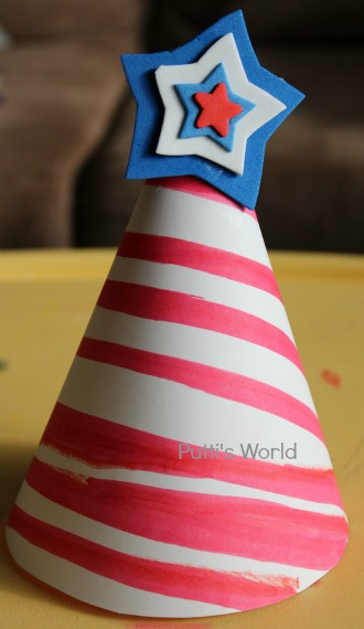 Kids Craft DIY 4th of July Hats