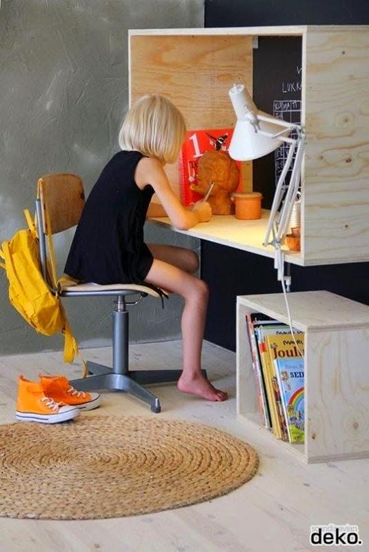 catinho de estudos simples e eficiente - Apartament Therapy