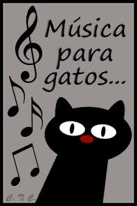 Gato con notas musicales
