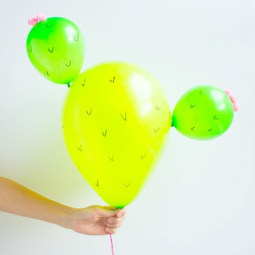 Turn a balloon into a cactus!