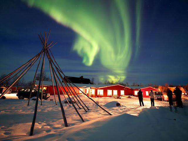 瑞典的北極光