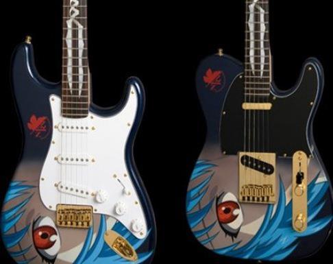 Guitarras pintadas con dibujos anime. 297910_10150310208724819_213182229818_7683183_749121666_n