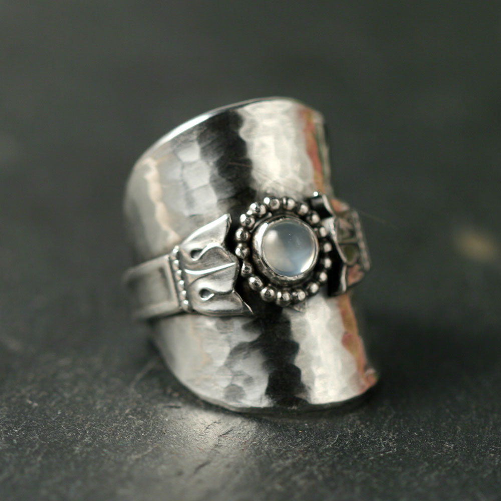 new recycled spoon ring susanna segerholm silver jewelry