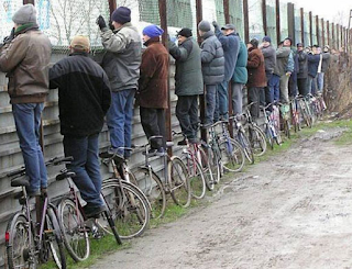 funny image of the public on the bikes