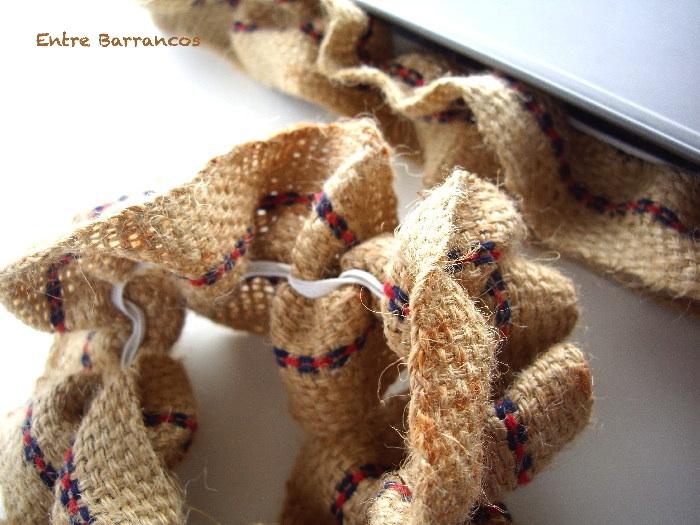 Entre barrancos manualidades reborde de tela de saco - Manualidades con tela de saco ...